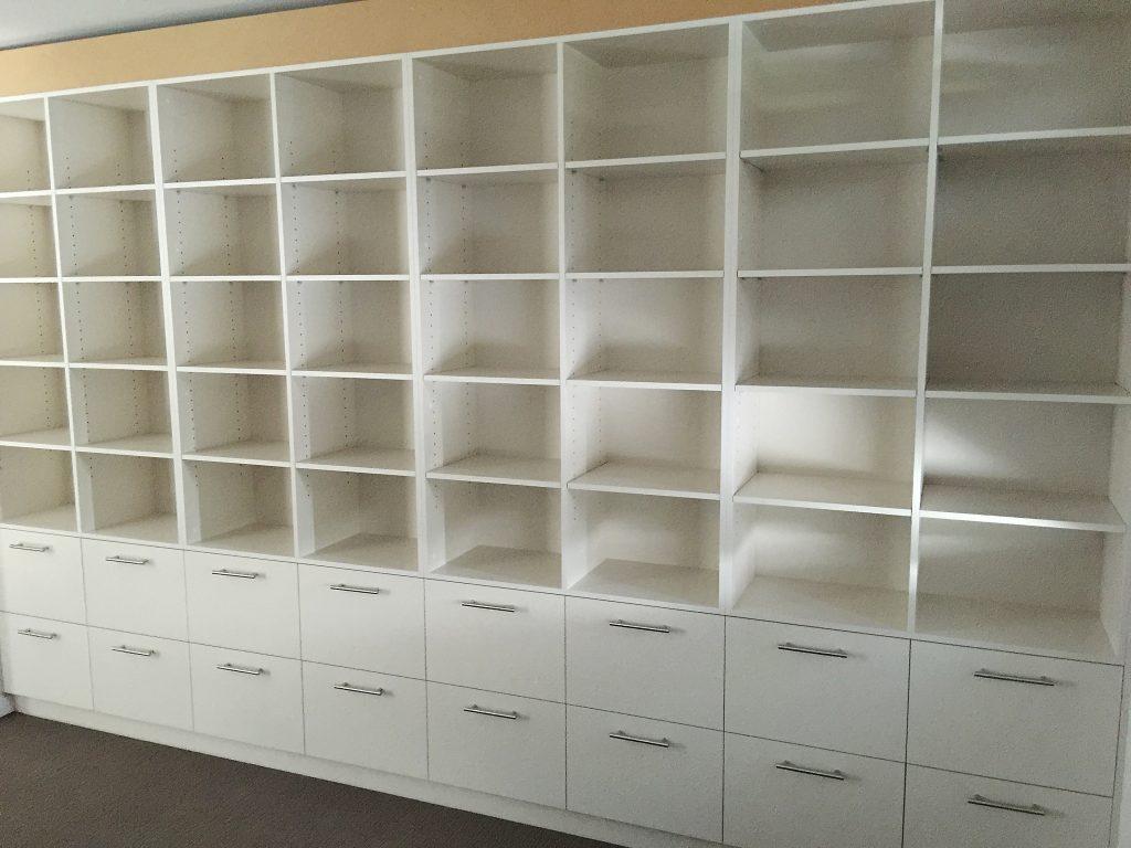 custom office cabinets Brisbane Northside filing draws and shelving