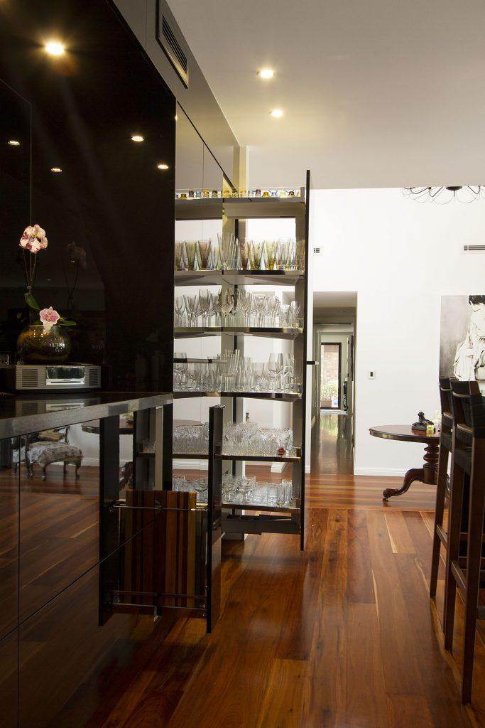 Stunning black kitchen renovation Brisbane Northside